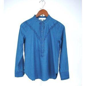 Vanessa Bruno Ideva Ruffle Blouse Shirt Top